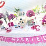 Bàn Galerry cưới đơn giản 01